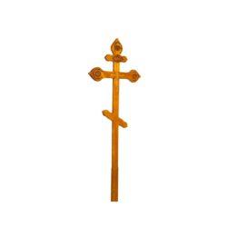 №52 Крест с орнаментом (сосна)