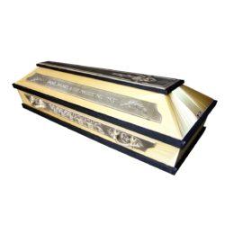 №8 Гроб золото с черным