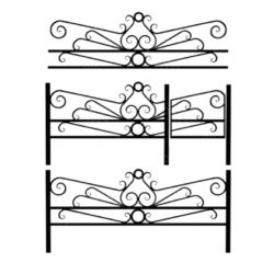 Кованая ограда №1
