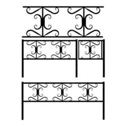 Кованая ограда №3