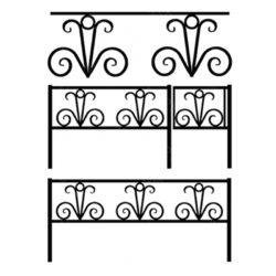 Кованая ограда №9