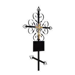 №12 Крест-завитушка (металл)